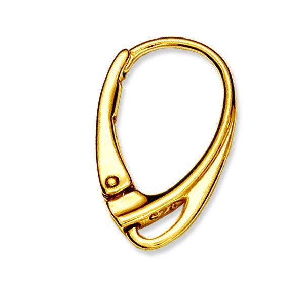 Leverback earrings findings, sterling silver, BA 1