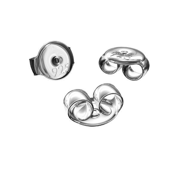 Silver back stopper*sterling silver 925*BAR 1 5,3 mm