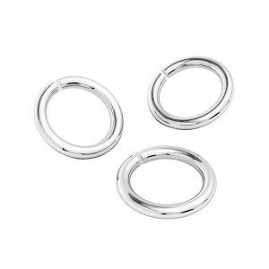 Open jump rings, sterling silver 925 - KC 0,95x3,9 mm