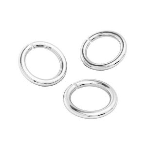 KC-1,00x3,90 - Open jump rings, sterling silver 925