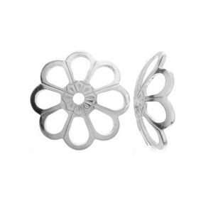 WKA  6,0 mm - Bead cap flower sterling silver 925