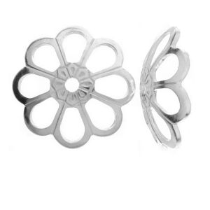 WKA  8,0 - Bead cap flower, sterling silver 925