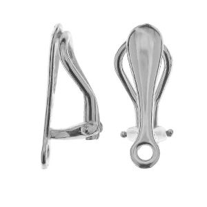 Clip earrings with loop, silver 925, CLIPS 2