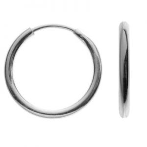 KL-07 1,1x9,0 mm, round earrings 9,5 mm, sterling silver