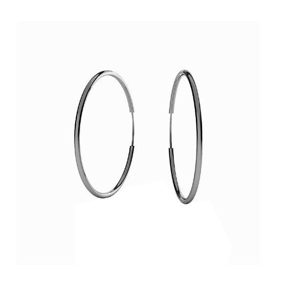 Round hoop earrings 2,2 cm KL-130