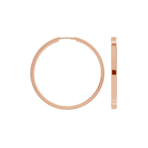Round earring KLP-40 3,6x45 mm