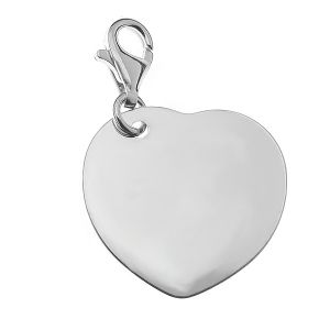 Sterling silver heart, CHARMS - Element Engrave 4