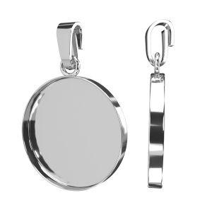 Pendant for resin 18 mm*sterling silver 925*FMG 18MM PENDANT