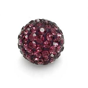 DISCOBALL 1 HOLE AMETHYST 10 MM