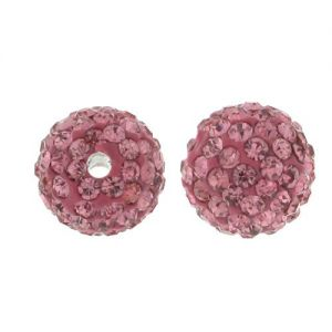 DISCOBALL BEAD ROSE 10 MM