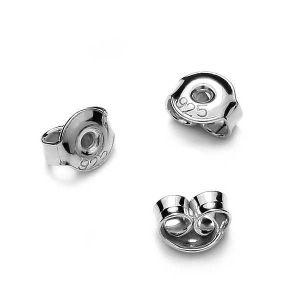 Silver back stopper light, sterling silver, BAR 2 4,5 mm