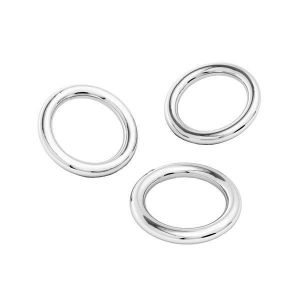 KCZ-0,80x3,00 - Soldered jump rings, sterling silver 925