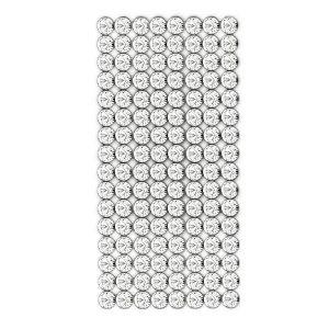 40001/008 012 001 - Crystal Mesh Standard 8 rows, Crystal
