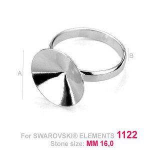 Base for rings Rivoli 16 mm - OKSV 1122 16MM S-RING