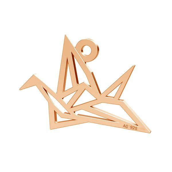Origami bird pendant, silver 925, LK-0364 - 0,50