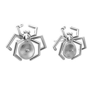 Spider earrings - pearls base*sterling silver 925*KLS ODL-00055 12x14 mm (5817 MM 6)