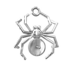 ODL-00056 (5817 MM 8), spider pendant pearls base, sterling silver