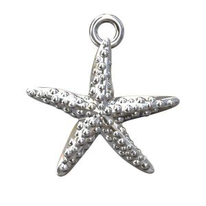 Starfish charms, sterling silver 925, ODL-00070 14,5x15,5 mm