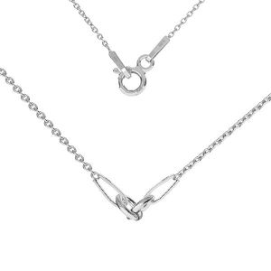 Necklace base, sterling silver 925, S-CHAIN 2 (A 030) - 44 cm