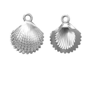 Shell pendant, sterling silver 925, ODL-00094