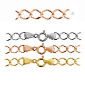 RD1 100 (19-22 cm) - Rhodium or gold plated