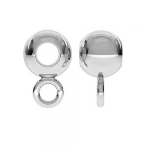 CON 1 P2L 6,0 F:3,2 - Bead ball button charm spacer, sterling silver 925