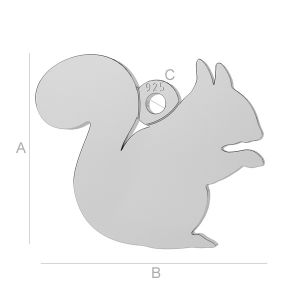 Squirrel charm, LK-0 - 0,50