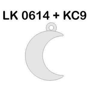 Moon charm, LK-0614 - 0,50