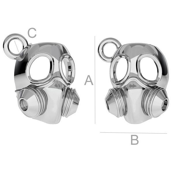Gas mask charm - ODL-00172