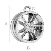 Alloy car wheel pendant - ODL-00169