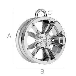 Alloy car wheel pendant - ODL-00169