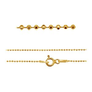 Ball chain rhodium or gold plated CPLD 1,0 (45-60 cm) AU/RH