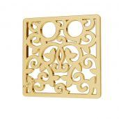 Square openwork gold 14K pendant LKZ-00009 - 0,30 mm