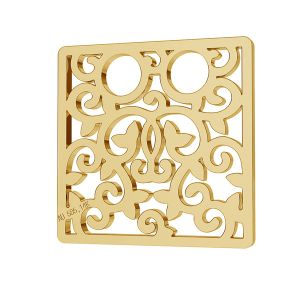Square openwork gold 14K pendant LKZ-00009 - 0,30 mm