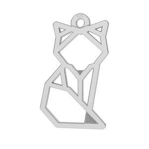 Origami fox pendant, LK-0649 - 0,50 10x17 mm