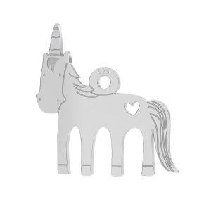 Unicorn pendant, LK-0650 - 0,50 13,5x14 mm