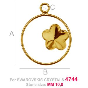 Flower 10mm Swarovski base FKSV 4744 MM 10 CON1 KCL 0,9x2,0