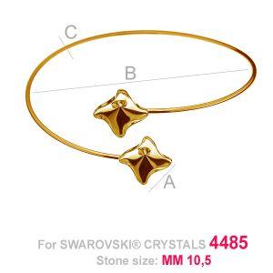 Round sliding bracelet (base) for Twister Fancy OKSV 4485 2x10,5 MM SBR ver.B