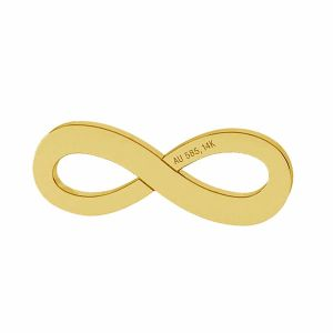Infinity sign pendant gold 14K LKZ-00325 - 0,30 mm