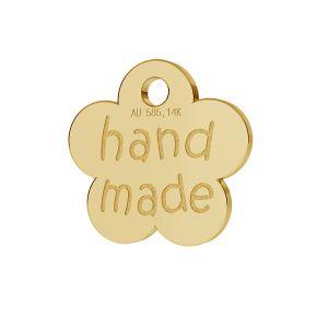 A small finishing flower plaque HANDMADE gold 14K LKZ-00577 - 0,30 mm