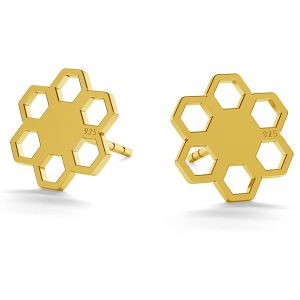Honeycomb post earrings LK-0668 KLS - 0,50