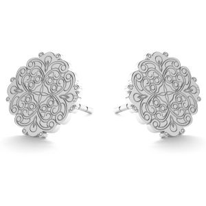 Round openwork post earrings LK-0669 KLS - 0,50