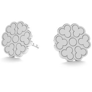 Round openwork post earrings LK-0670 KLS - 0,50
