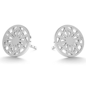 Round openwork post earrings LK-0672 KLS - 0,50