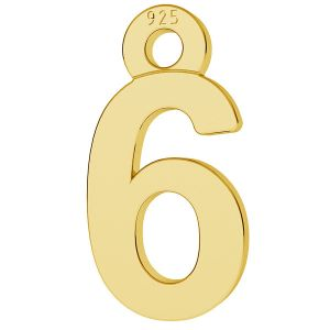 Digit number 6 pendant, LK-0711 - 0,50