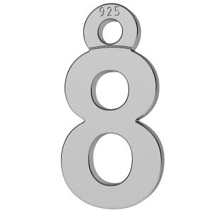 Digit number 8 pendant, LK-0713 - 0,50
