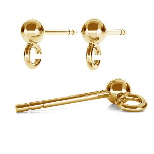 Ear post with 3mm ball STWZ 3,0 - AU 585,14K