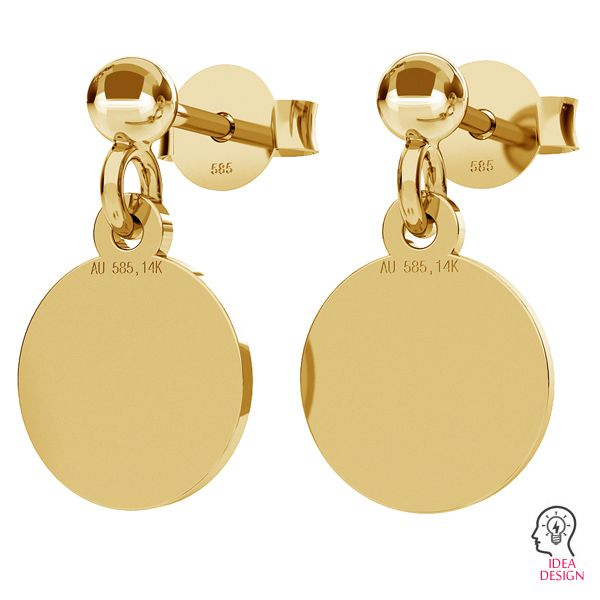 Gold ear post with 3mm ball STWZ 3,0 - AU 585,14K
