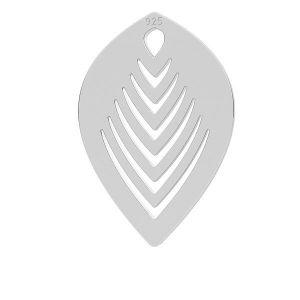 Leaf pendant, LK-0789 - 0,50