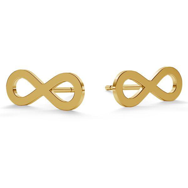 Infinity post earrings gold 14K LKZ-00589 KLS - 0,30 mm